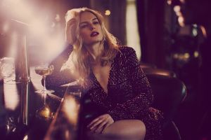 blonde drink bar actress red lipstick women depth of field legs kate bosworth drinking glass open mouth dress long hair sitting lights