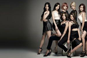 blonde jimin feet skirt seolhyun aoa asian high heels choa brunette black hair women k-pop
