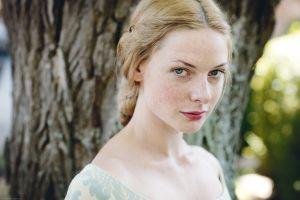blonde looking at viewer freckles rebecca ferguson women actress