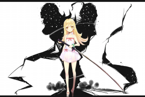 blonde monogatari series anime girls oshino shinobu long hair anime