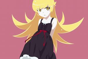 blonde monogatari series oshino shinobu long hair anime girls anime vector art
