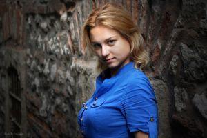 blonde sensual gaze women face portrait