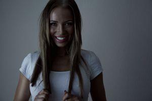 blonde smiling face