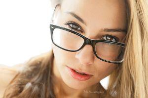 blonde women with glasses model women face portrait