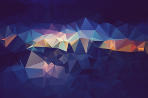 blue abstract digital art low poly