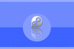 blue background linux simple background fedora minimalism digital art circle