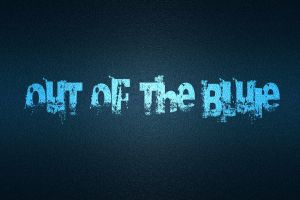 blue background typography text