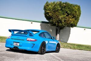 blue cars car vehicle porsche