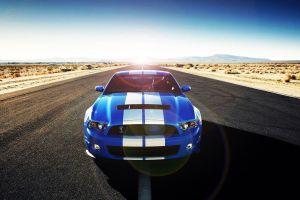 blue cars ford car vehicle asphalt