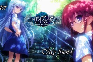 blue eyes blue hair anime girls grisaia no kajitsu anime