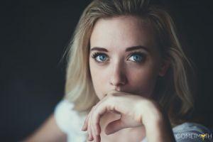 blue eyes eyes face model women blonde