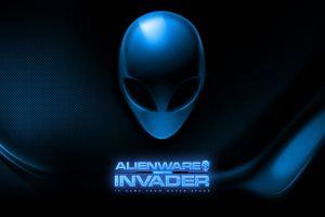 blue typography aliens