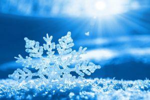 blue winter snow snow flakes