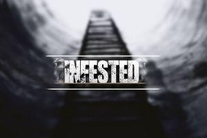 blurred typography digital art