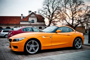 bmw bmw z4 car vehicle orange cars