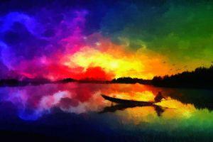 boat artwork painting