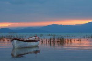 boat lake nature