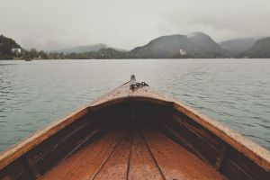 boat vehicle water rain outdoors