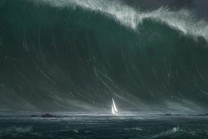 boat waves artwork bastien grivet