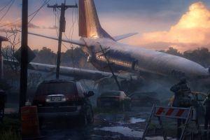 boeing 737 artwork apocalyptic drawing aircraft crash
