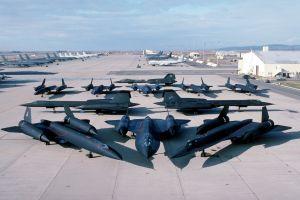 boeing kc-135 stratotanker aircraft lockheed sr-71 blackbird military military base military aircraft