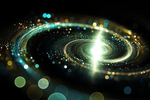 bokeh abstract digital art spiral galaxy