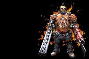 borderlands 2 salvador black background video games fantasy weapon