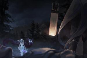 bow forest lucian (league of legends) kindred league of legends kindred (league of legends) wolf lamb gun lucian