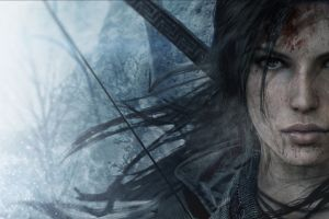 bow lara croft tomb raider video games artwork face rise of the tomb raider eyes concept art