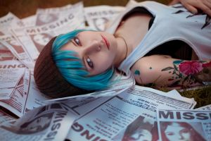 bra chloe price cyan hair tattoo women cosplay life is strange blue hair
