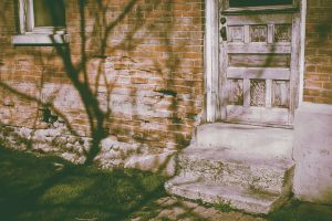 bricks door house photography