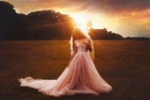 brides women women outdoors wedding dress tj drysdale brunette cleavage