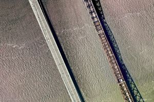 bridge landscape earth city aerial view urban