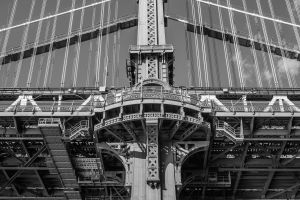 bridge manhattan bridge architecture monochrome