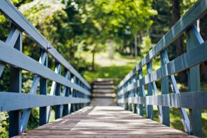 bridge outdoors wood