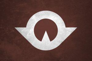 brown flag minimalism