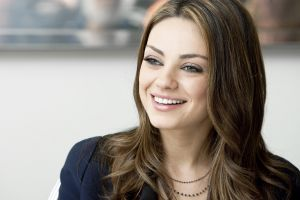 brunette celebrity women actress smiling mila kunis