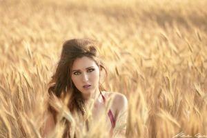 brunette face portrait model women