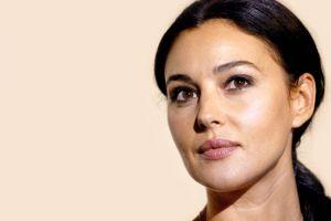 brunette face portrait women monica bellucci brown eyes actress