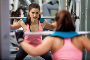 brunette sports women fitness model