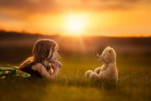 brunette teddy bears children outdoors nature jake olson profile
