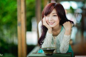 brunette wink smiling asian