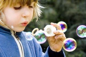bubbles children outdoors