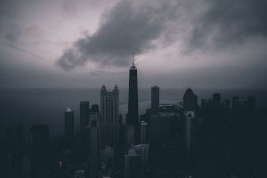 building clouds cityscape city sky