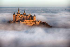 building mist germany castle burg hohenzollern