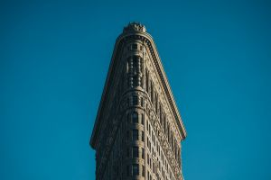 building new york city sky flatiron building