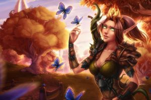 butterfly blood elves world of warcraft fantasy art