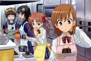 cake saten ruiko to aru majutsu no index misaka mikoto shirai kuroko uiharu kazari baking anime girls