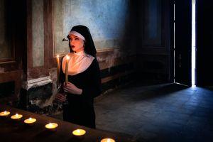 candles model nuns women