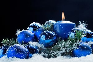 candles snow christmas ornaments